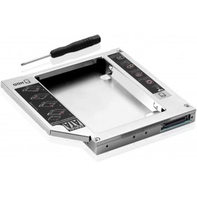 "Universal 2.5"" 12.7mm 2nd Caddy IDE Box Bay SATA HDD"