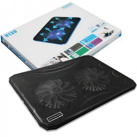 N130 2-Fan Ultra-thin Cooling Cooler Pad for 15.4 Notebook