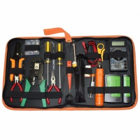 16 in 1 Professional LAN Network Kit Crimper Cable Wire Stripper Cutter Pliers Screwdriver Toolkit