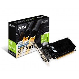 MSI GeForce GT 710 2GB GDDR3 Graphics Card / 192 CUDA CORES / 64-bit Memory / Dual DVI-D / HDMI / VGA
