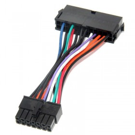 24Pin to 14Pin PSU Main Power Supply ATX Adapter Cable for Q77 B75 A75