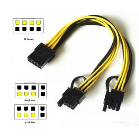 GPU 8 pin Female to dual PCI-E PCI Express 8pin ( 6+2 pin ) Male power cable wire For graphics card BTC Miner 20cm