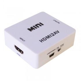 HDMI To AV 3RCA CVBs Composite Video Audio Converter Adapter