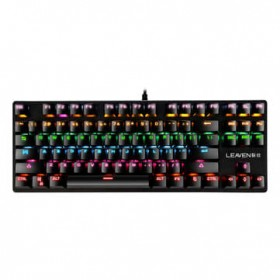 K550 87 Keys Wired Mechanical Keyboard Blue Switch Waterproof 19 RGB Backlight Gaming Keyboard for Windows XP/7/8/10 - Black