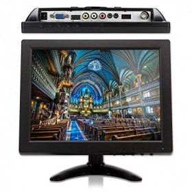 10.1 inch PC Portable Monitor 1280 x 800 IPS LCD Monitor with HDMI VGA AV Port for CCTV Camera Car Backup