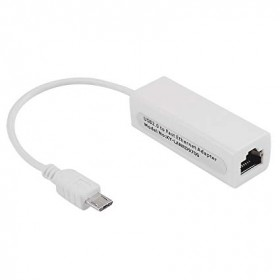 Micro USB to RJ45 LAN Ethernet Port 10/100 Mbps Cable Adapter