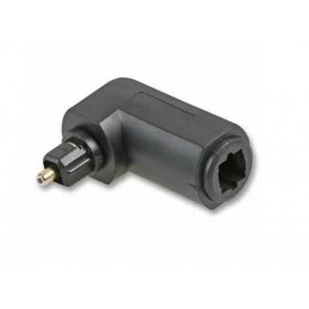 90 Degree Optical Toslink Audio Female to Male Optical Toslink Adapter