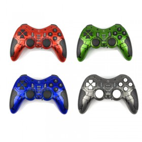 2.4Ghz Wireless 5in1 Double Shock Gaming Controller Gamepad Joystick for PC , PS2, PS3 and ANDROID